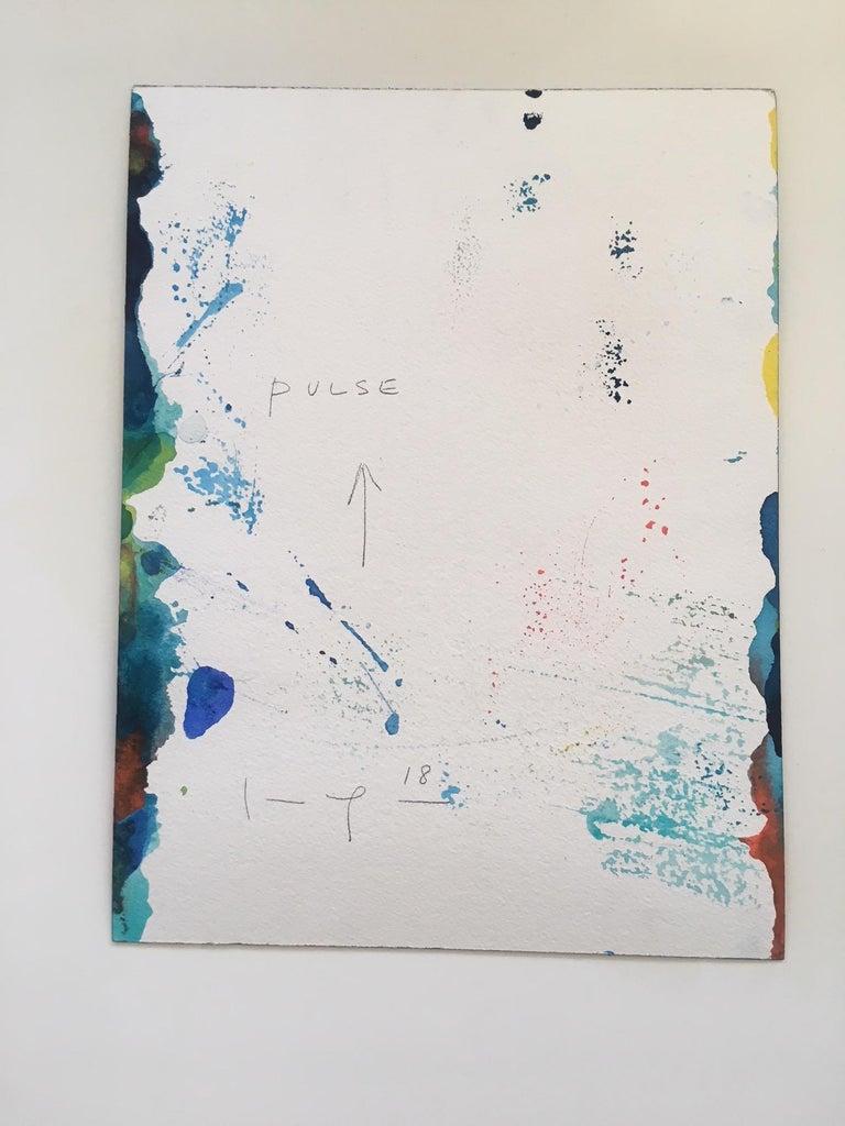 Pulse - Yellow Abstract Drawing by Kim Uchiyama