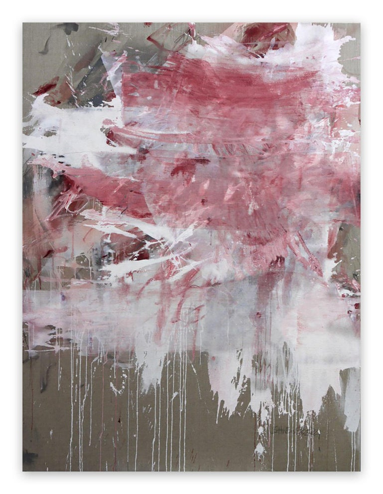 Daniela Schweinsberg Abstract Painting - Pink Noise (Abstract Expressionism painting)