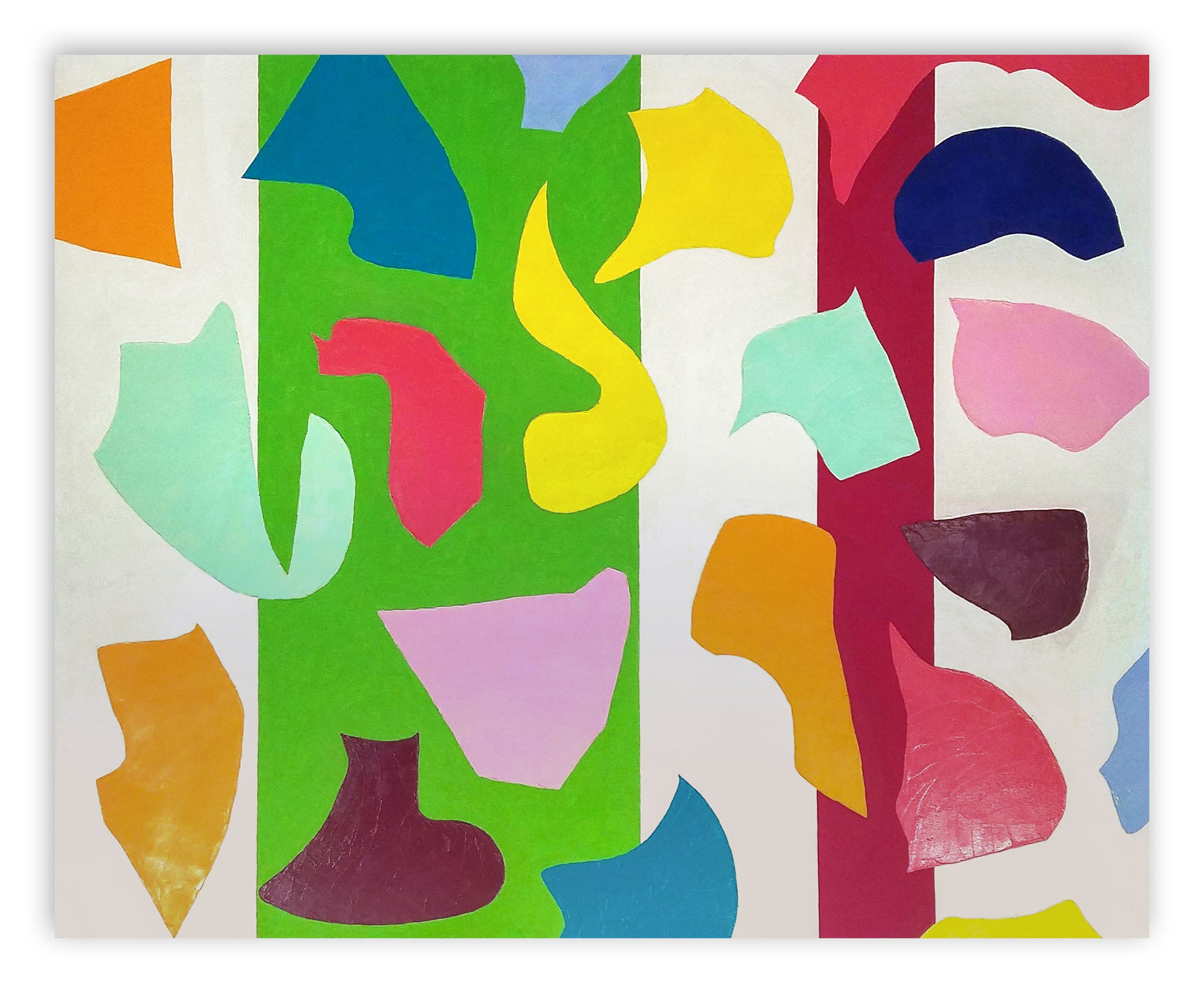 Shapely controversy (Abstract painting)