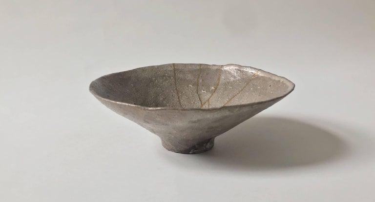 This Japanese ceramic bowl is by Shiro Shimizu, from his famous Kyoto studio. Shown in our Tea Ceremony exhibition which opened in May 2018.  The grandson of celebrated late ceramicist Uichi Shimizu, Shiro Shimizu hails from a lineage of pottery