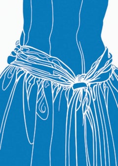 KNOT ON THE DRESS OF A GIRL (blue)