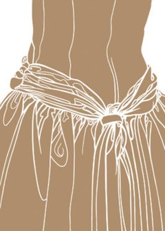 KNOT ON THE DRESS OF A GIRL (brown)
