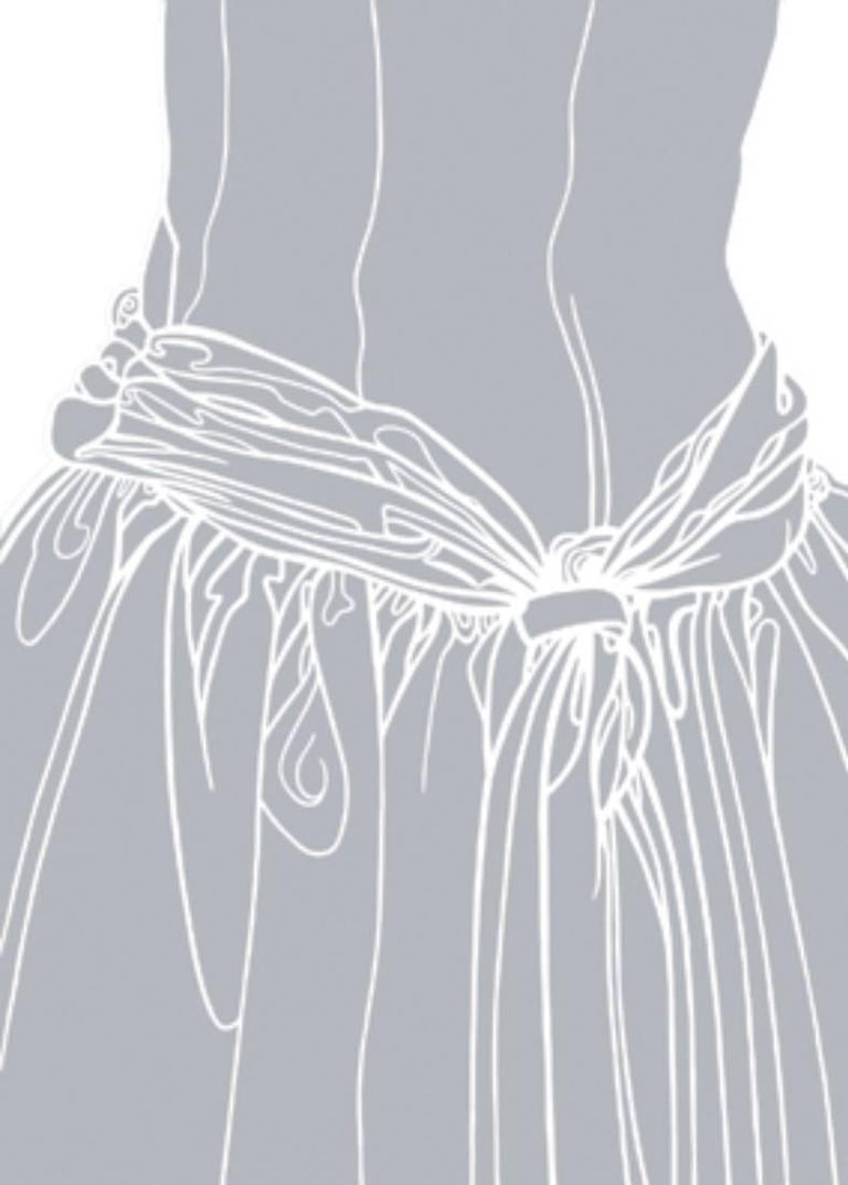 KNOT ON THE DRESS OF A GIRL (grey)