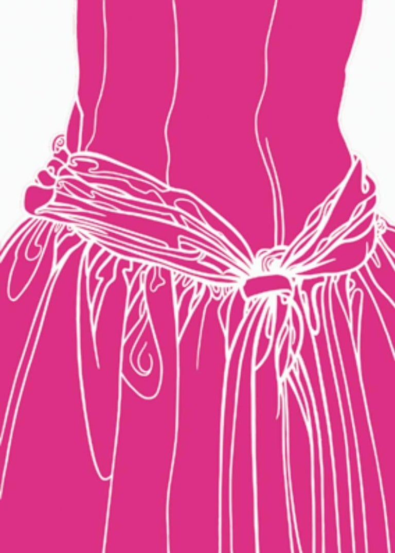 KNOT ON THE DRESS OF A GIRL (pink)