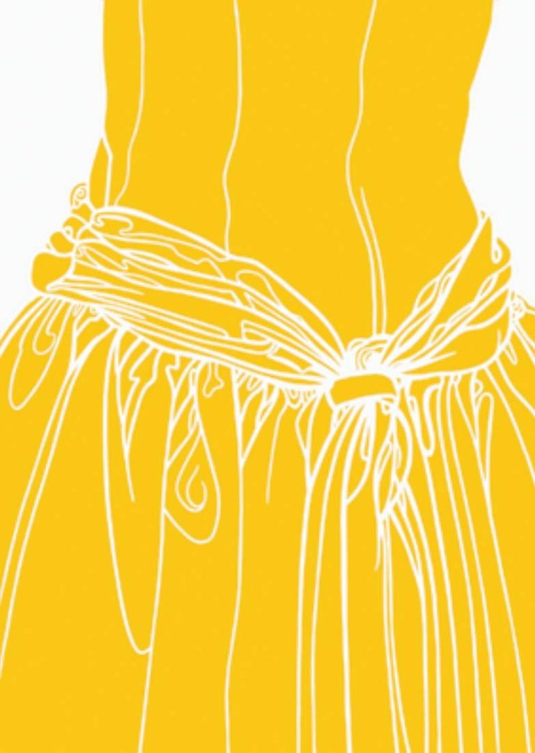 KNOT ON THE DRESS OF A GIRL (yellow)