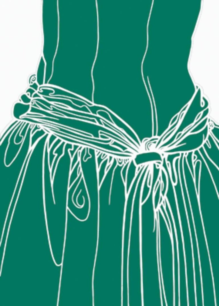 KNOT ON THE DRESS OF A GIRL (green)