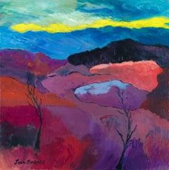 """""""L'Automne aux Couleurs Mauves"""" - - Brittany, France, Expressionist, Purple,"""