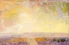 """Gold & Silver"" -- Romantic, American Monet, Landscape, Abstract"