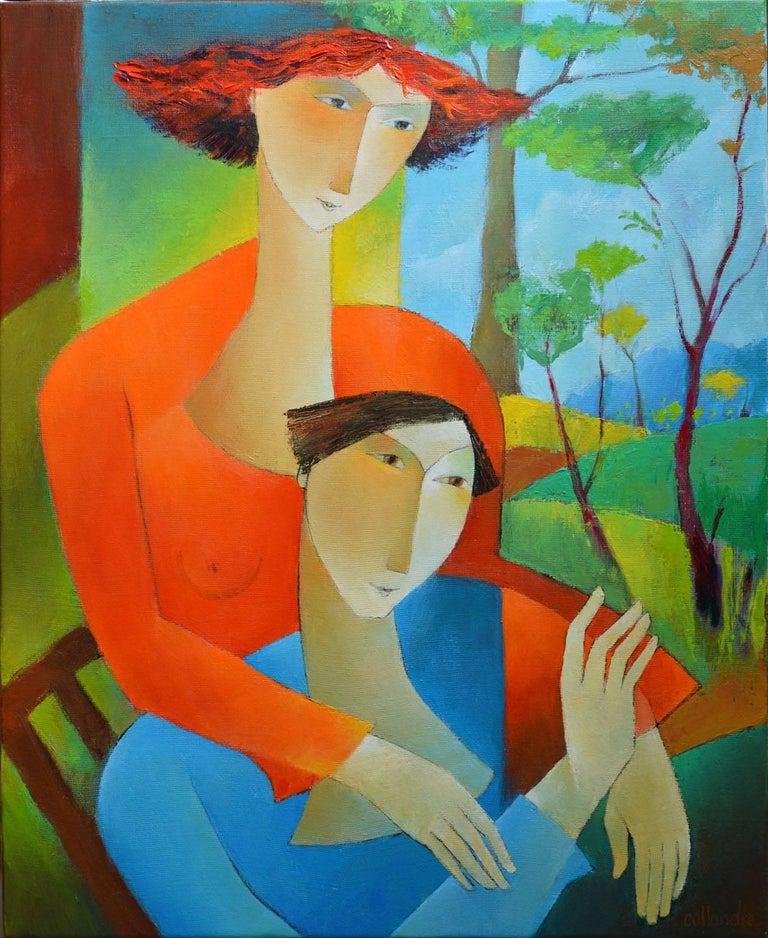 Francoise collandre vue sur jardin painting for sale at for Jardin francais jewelry
