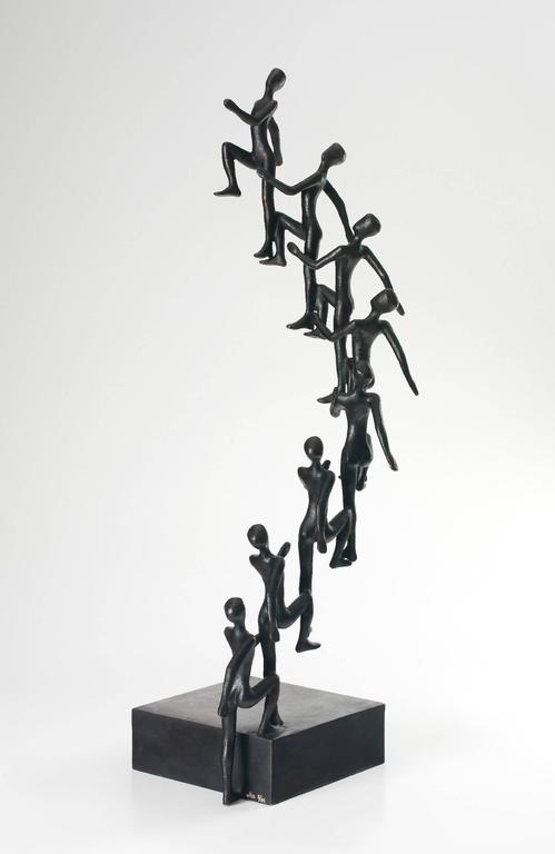 Sky is the Limit - Gold Figurative Sculpture by Tolla Inbar
