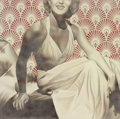 """Hollywood Glamour"" -vintage, encaustic, celebrities, retro, nostalgic, memories"