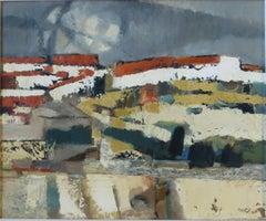Martyl Suzanne Schweig Langsdorf - Mid Century Abstract Spanish Landscape