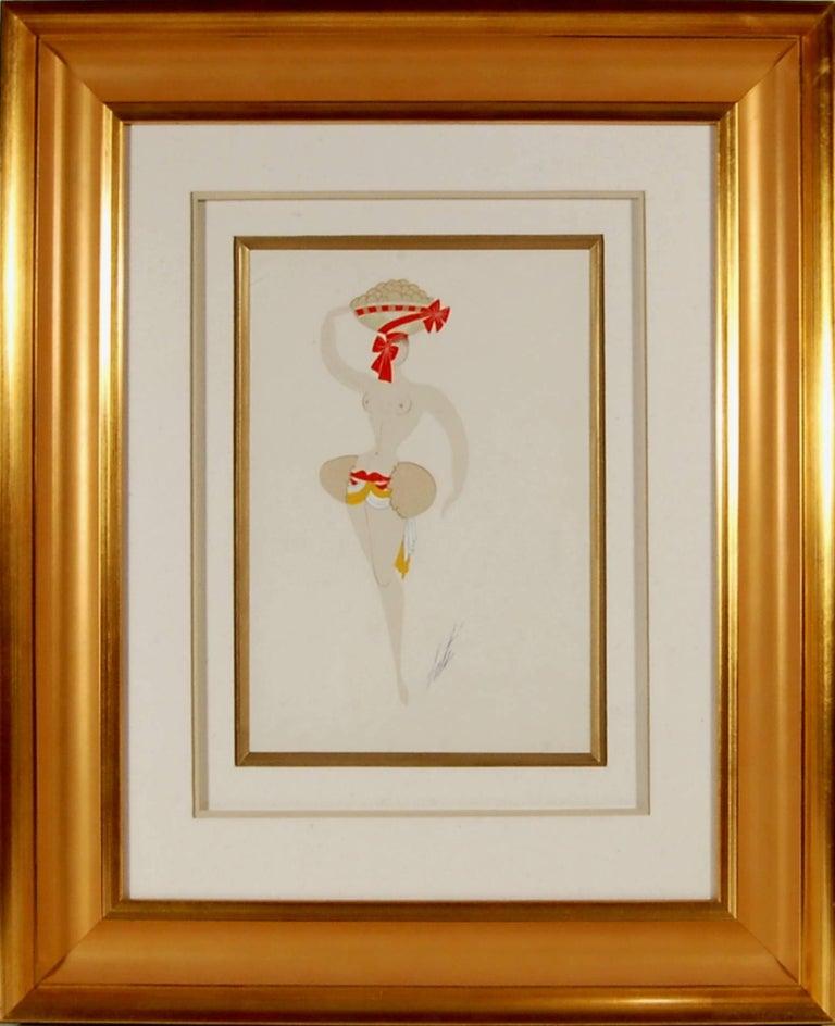Erté Figurative Art - l' Oeuf a Gober