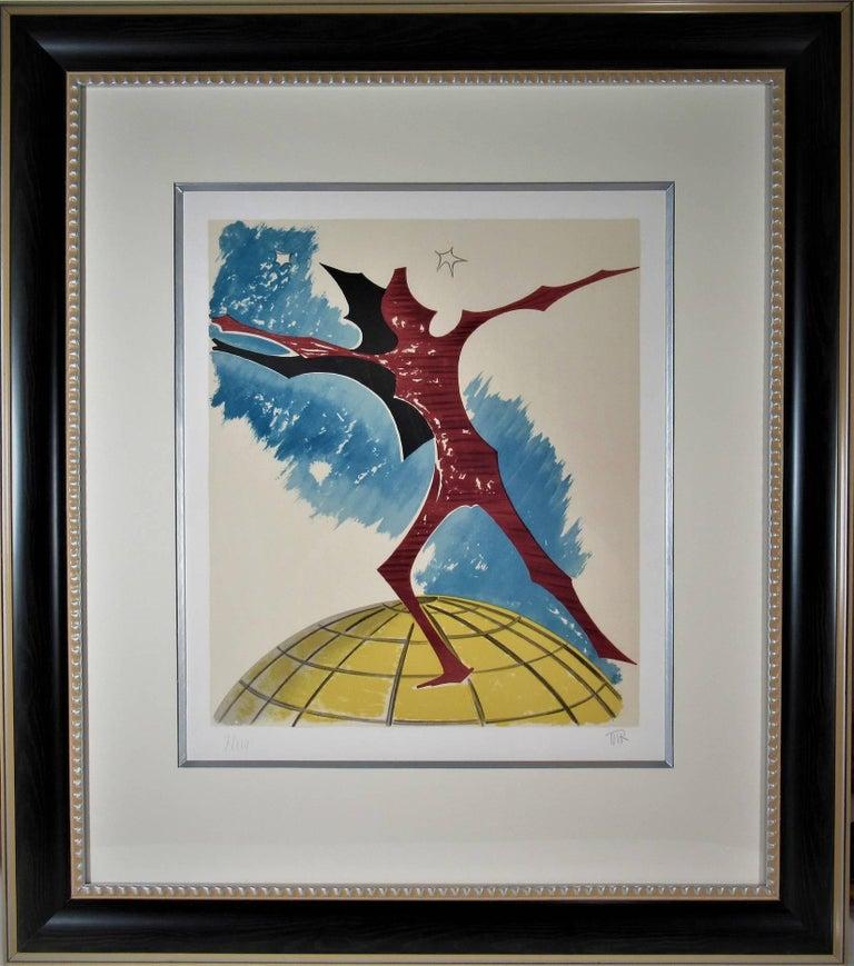 Man Ray Figurative Print - In Cima Del Mundo