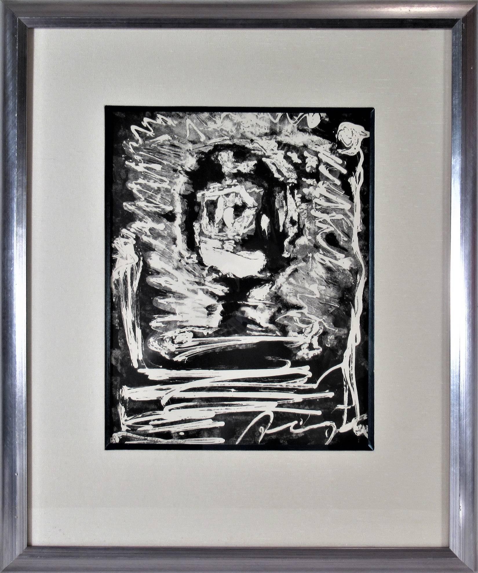 """""""Moon Face"""" Original lithograph."""