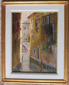 Ted Goerschner Beautiful Oil Painting of Venice