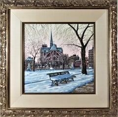 Notre Dame de Paris in Winter