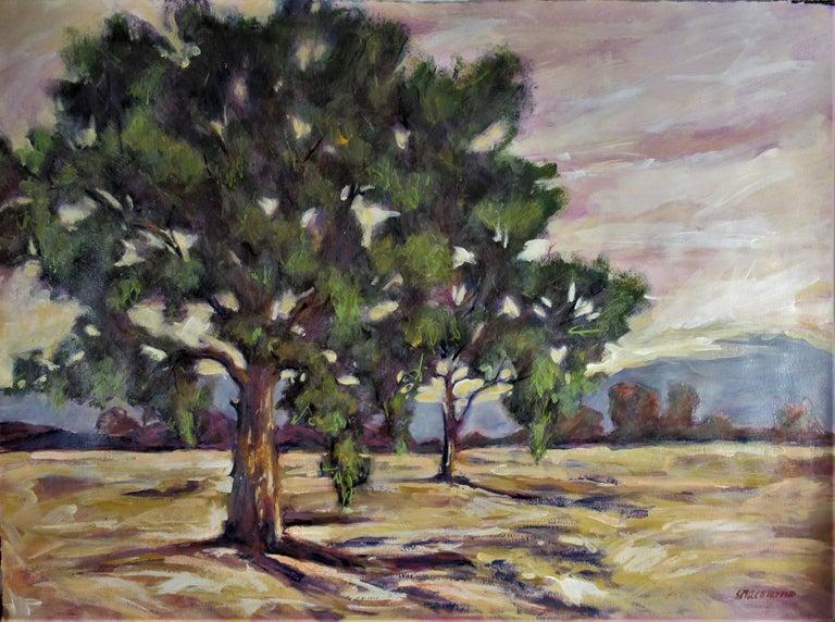 Sandra Phipps MacDiarmid Landscape Art - Oak Tress #1