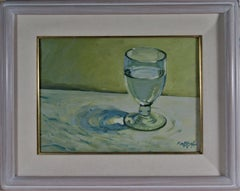 Still Life with White Wine Glass