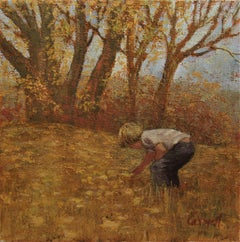 Boy Picking Flowers