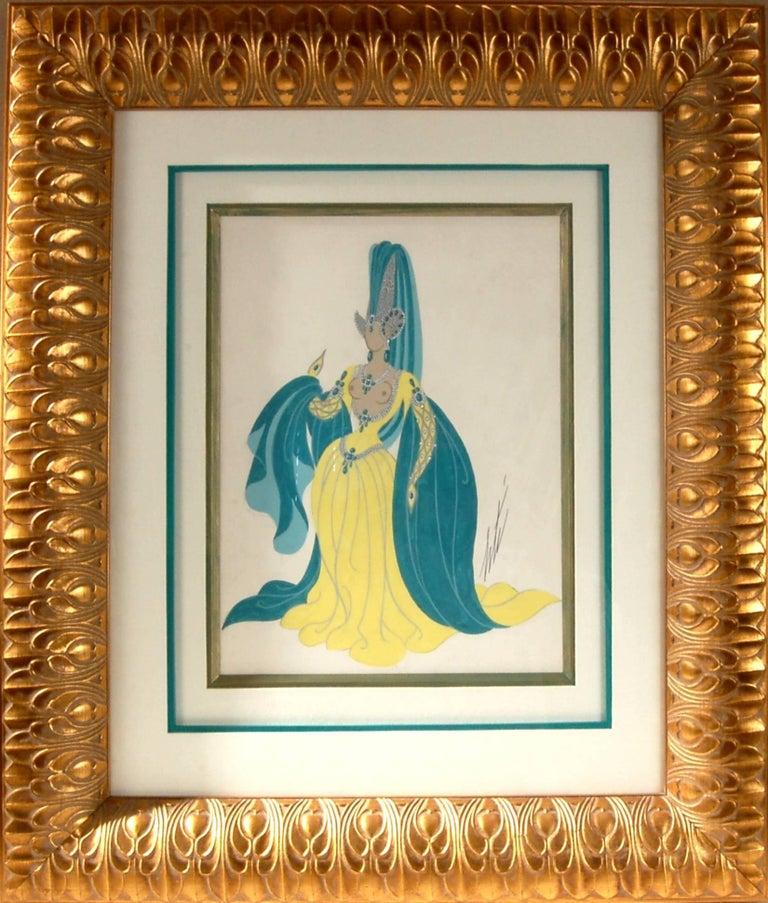 Erté Figurative Painting - Sorciere, Manequin aux Oreilles