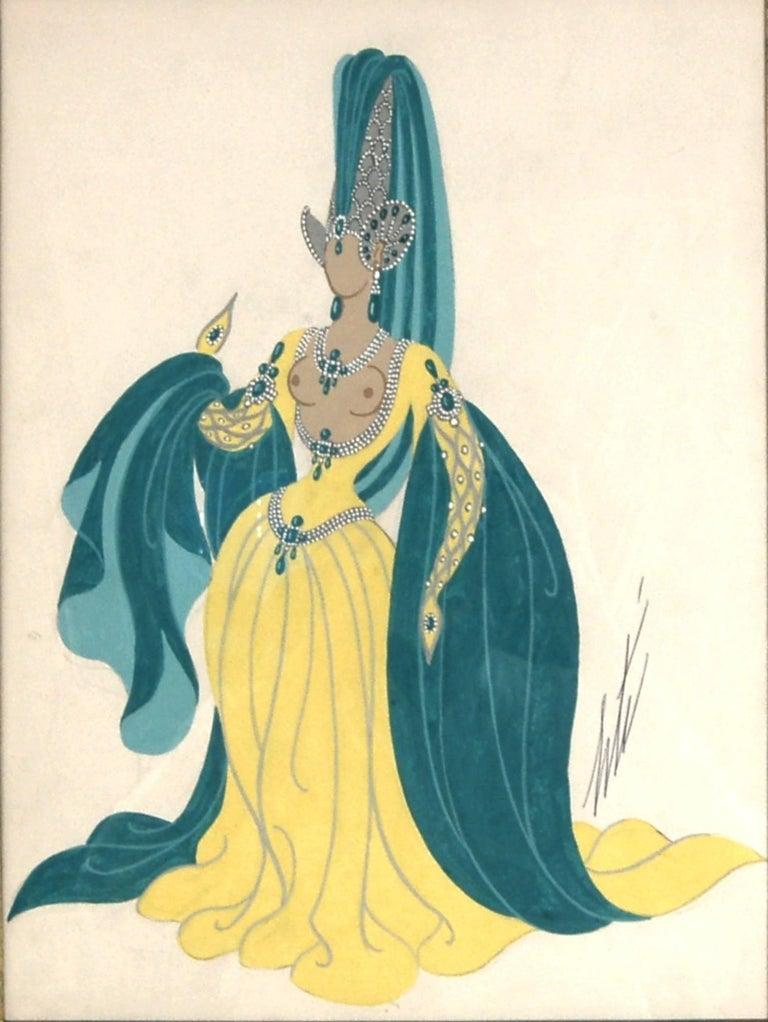 Sorciere, Manequin aux Oreilles - Painting by Erté