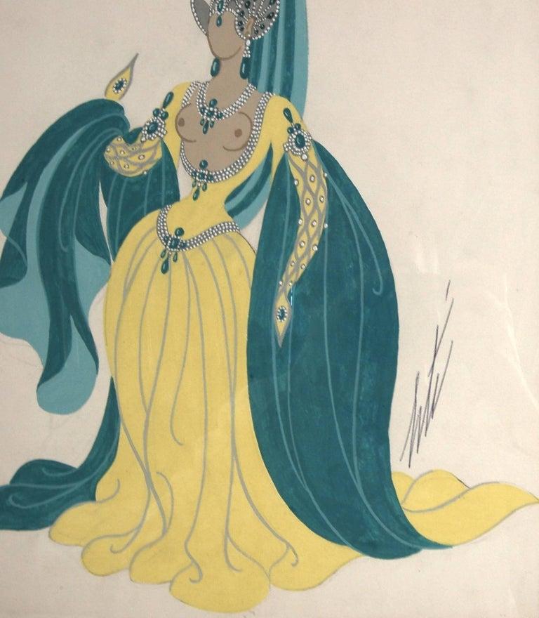 Sorciere, Manequin aux Oreilles - Art Nouveau Painting by Erté