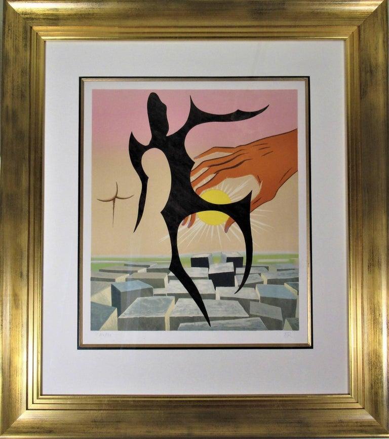 Man Ray Abstract Print - Rebus II