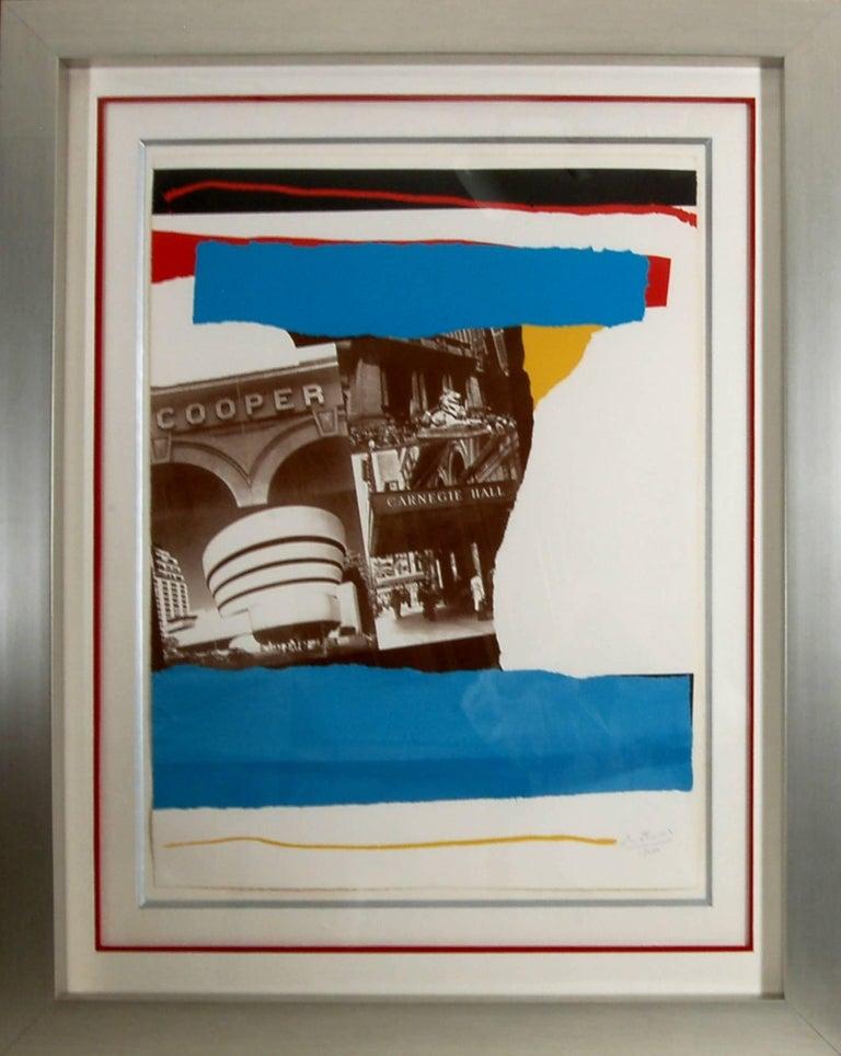 Robert Motherwell Abstract Print - Carnegie Hall