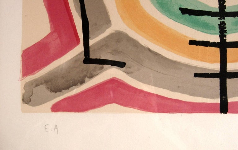 Serpent, from the suite, Origine Des Especes - Brown Abstract Print by Man Ray