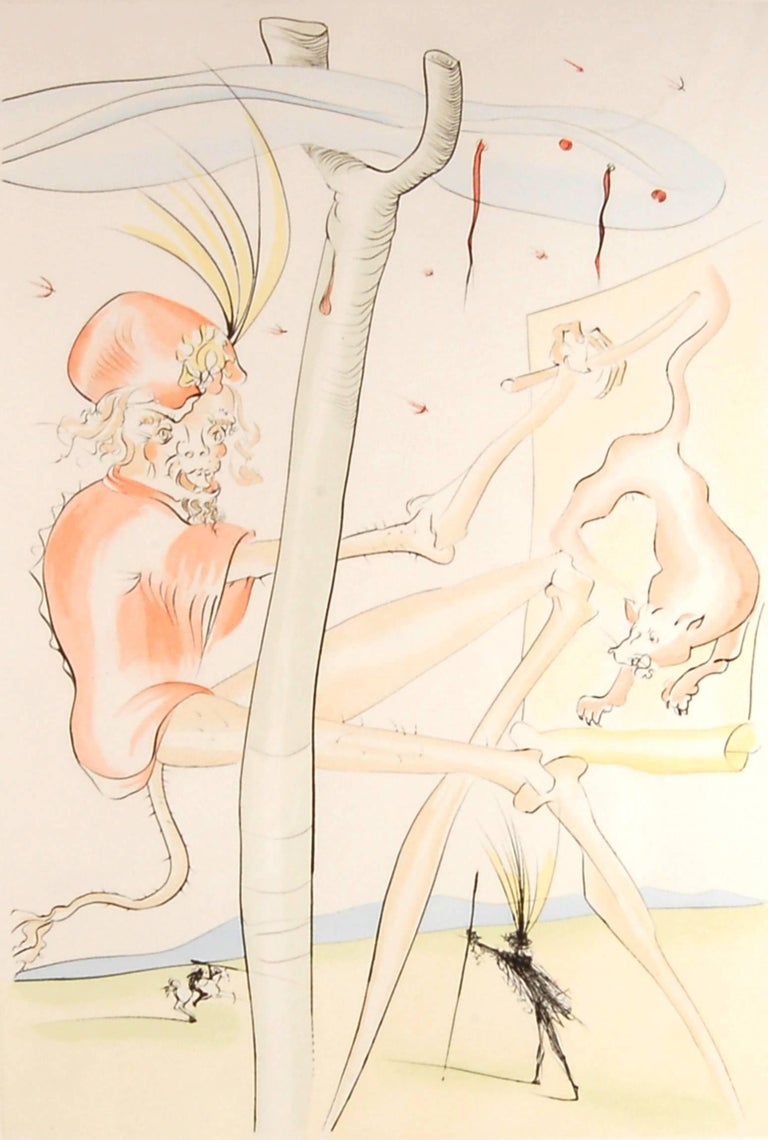 Le Singe et le Leopard - Print by Salvador Dalí