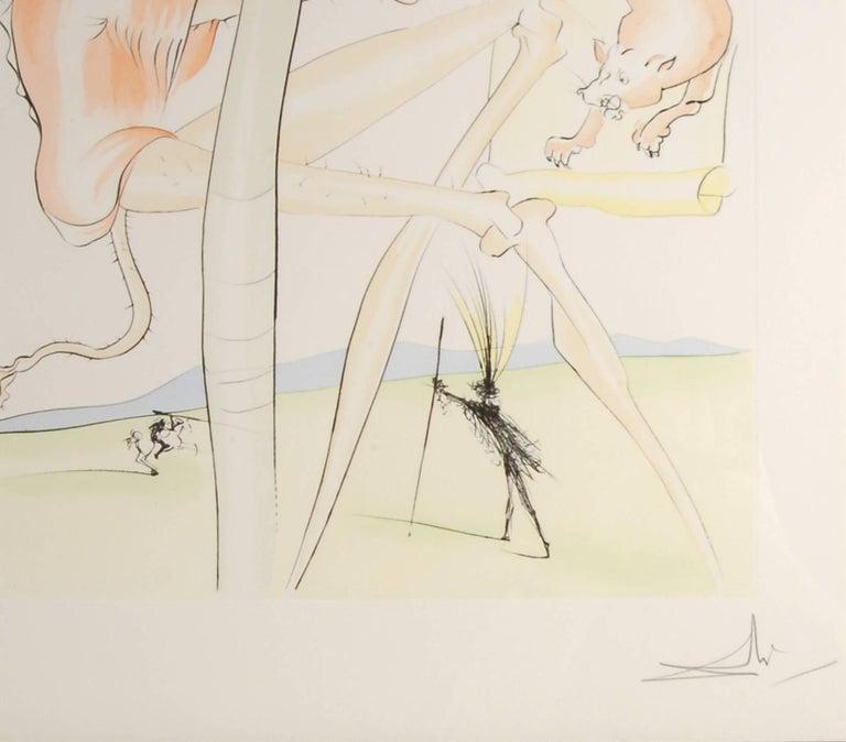 Le Singe et le Leopard - Surrealist Print by Salvador Dalí