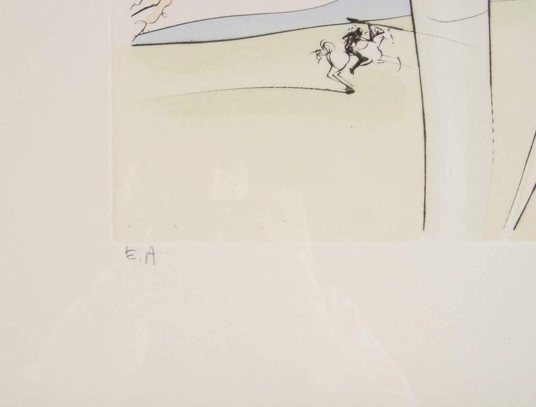 Le Singe et le Leopard - Beige Figurative Print by Salvador Dalí