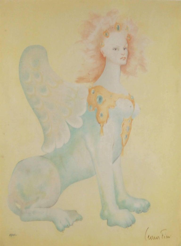 Yellow Sphinx - Print by Leonor Fini