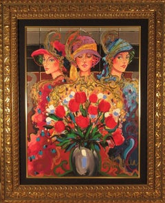 Splendor, Three Women With Flowers