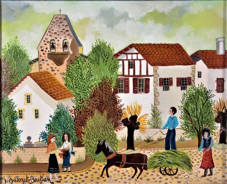 La Charette de Lion - Painting by Irene Darget-Bastien