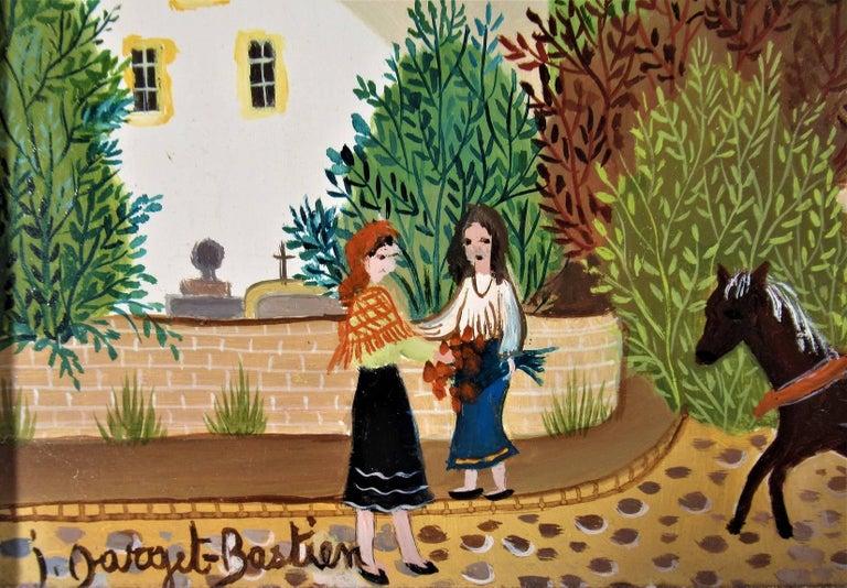 La Charette de Lion - Impressionist Painting by Irene Darget-Bastien