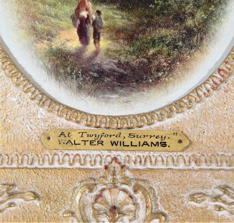 At Twyford, Surrey - Realist Painting by Walter Heath Williams