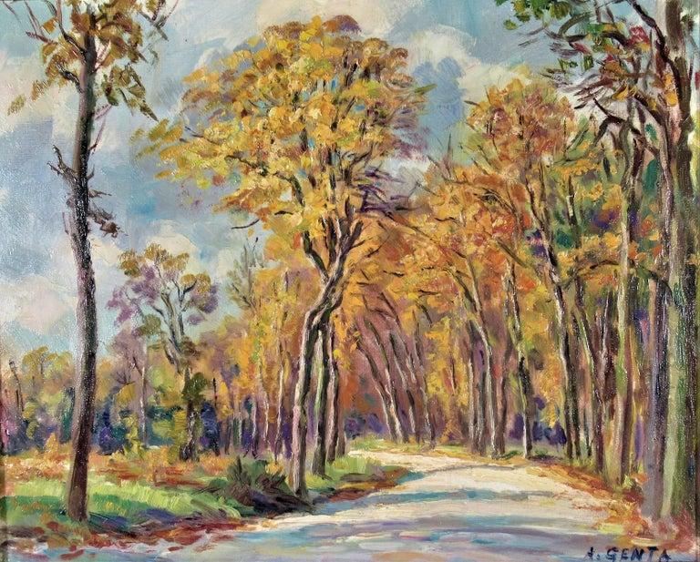 Le Bois de Vicennes - Painting by Albert Genta