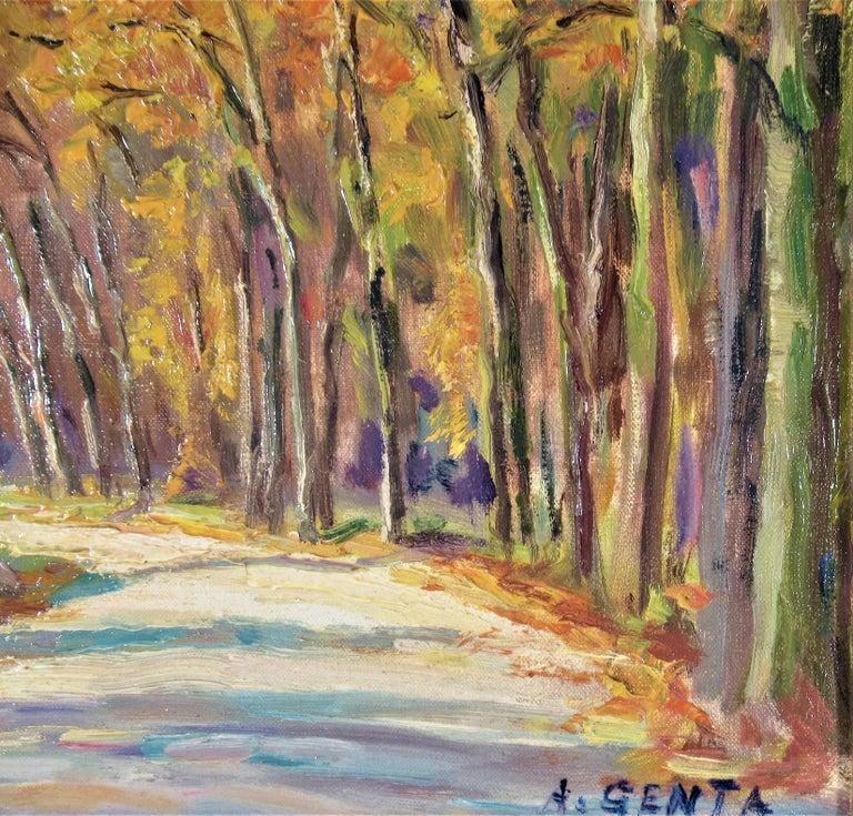 Le Bois de Vicennes - Impressionist Painting by Albert Genta
