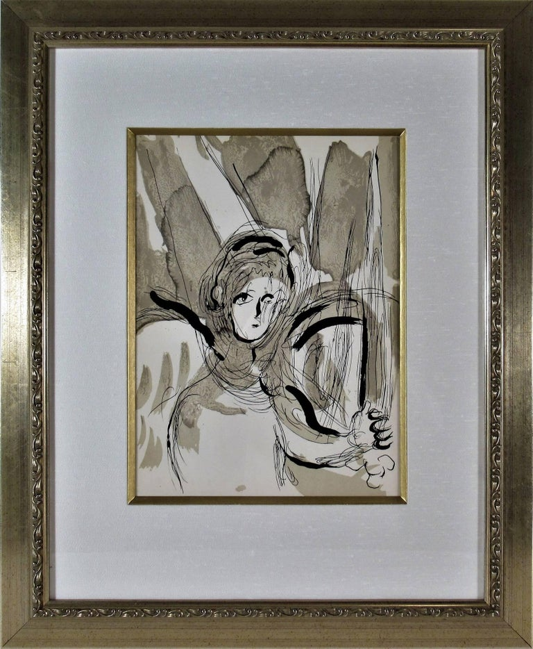 Marc Chagall Quot Angel With Sword Quot From Quot The Bible