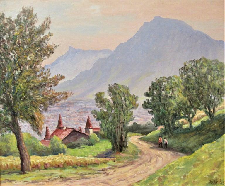 Vue de Narbonne sur Grenoble - Painting by Florent Chade
