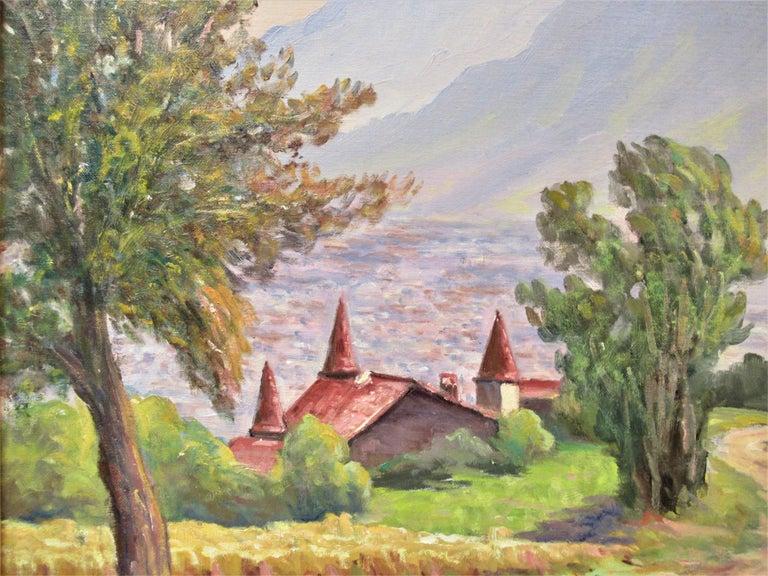 Vue de Narbonne sur Grenoble - Impressionist Painting by Florent Chade