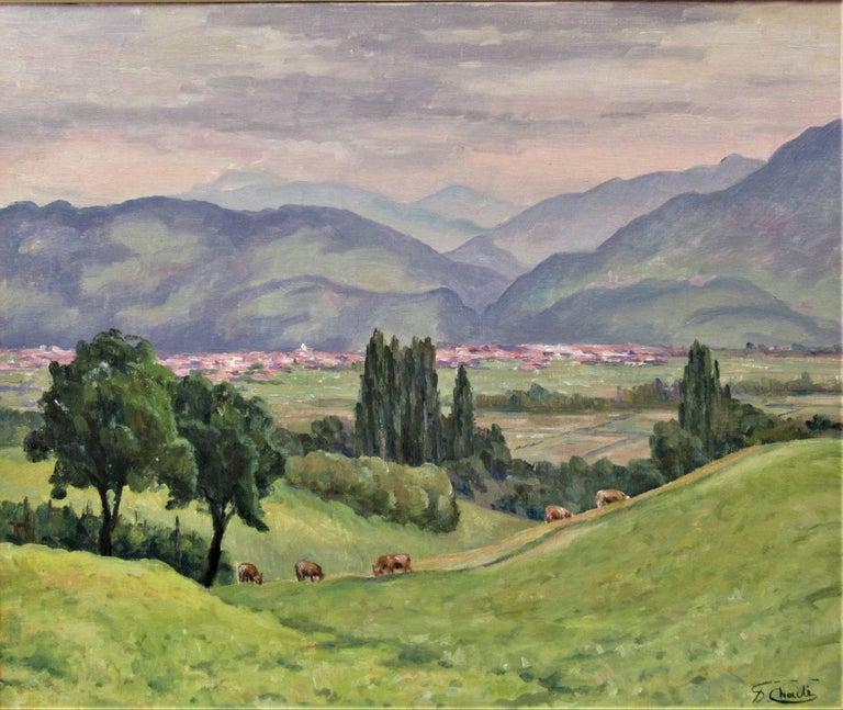 Plaine de Pontcharue - Painting by Florent Chade