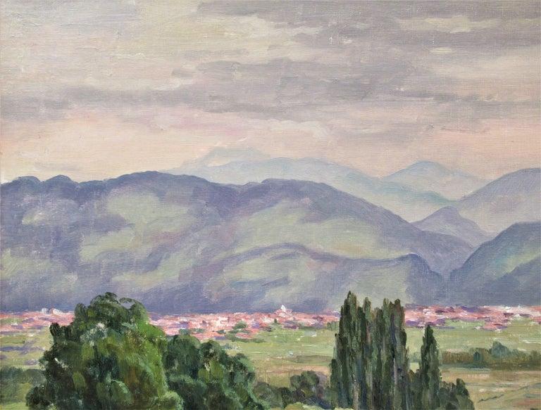 Plaine de Pontcharue - Impressionist Painting by Florent Chade