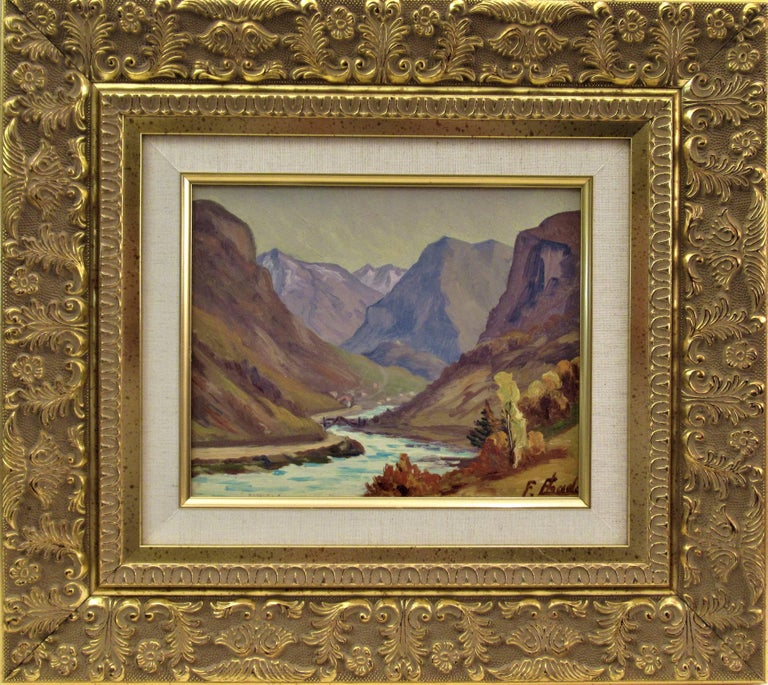Florent Chade Landscape Painting - La Montagne, Pres de Grenoble