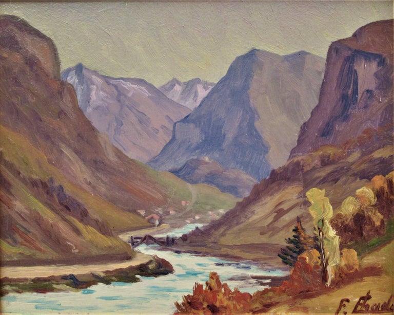La Montagne, Pres de Grenoble - Painting by Florent Chade