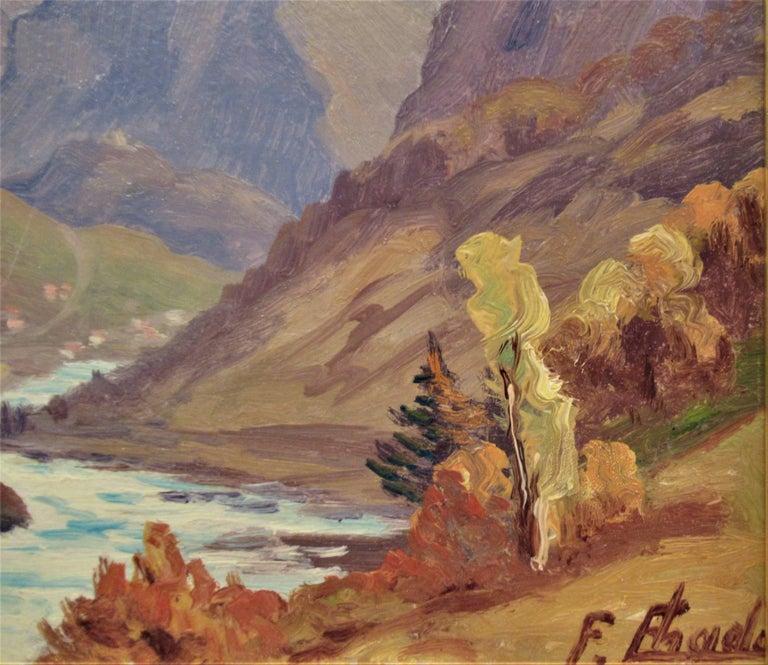 La Montagne, Pres de Grenoble - Impressionist Painting by Florent Chade