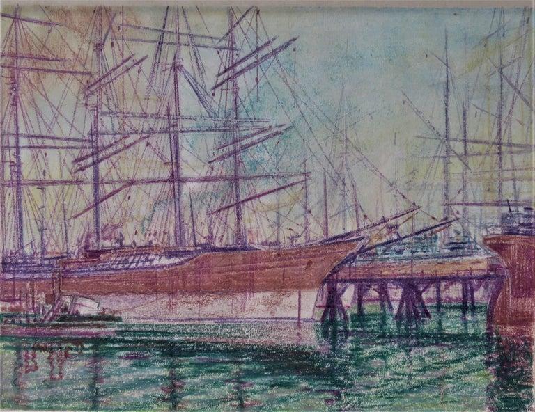 Return Alaskan Fishing Fleet, San Francisco Bay Estuary - Art by Harry Emerson Lewis
