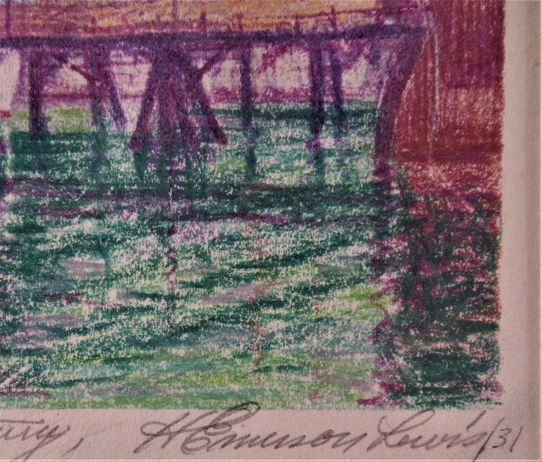 Return Alaskan Fishing Fleet, San Francisco Bay Estuary - American Impressionist Art by Harry Emerson Lewis